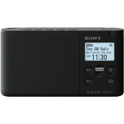 Sony - DAB/DAB+ Portable Radio - Black