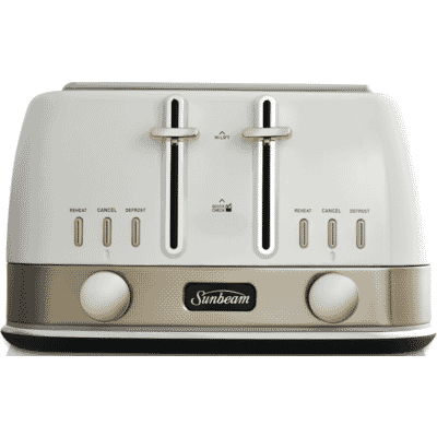Sunbeam - New York Collection 4 Slice Toaster - White/Pale Gold