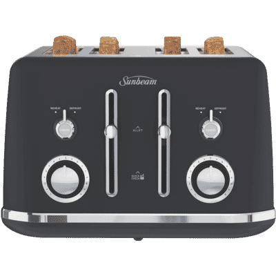 Sunbeam - Alinea 4 Slice Toaster - Dark Canyon Black