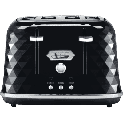 Delonghi - Brillante 4 Slice Toaster - Black