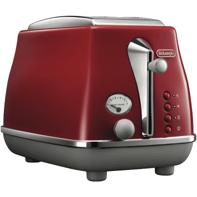 Delonghi - Icona Capitals 2 Slice Toaster - Red