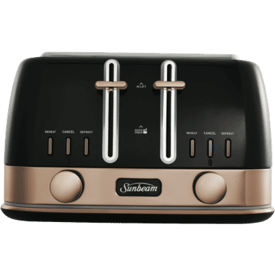 Sunbeam - New York Collection 4 Slice Toaster - Black/Bronze