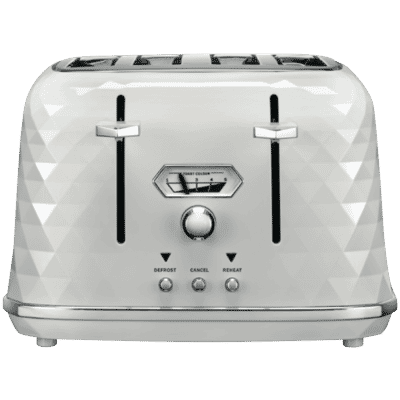 Delonghi - Brillante 4 Slice Toaster - White