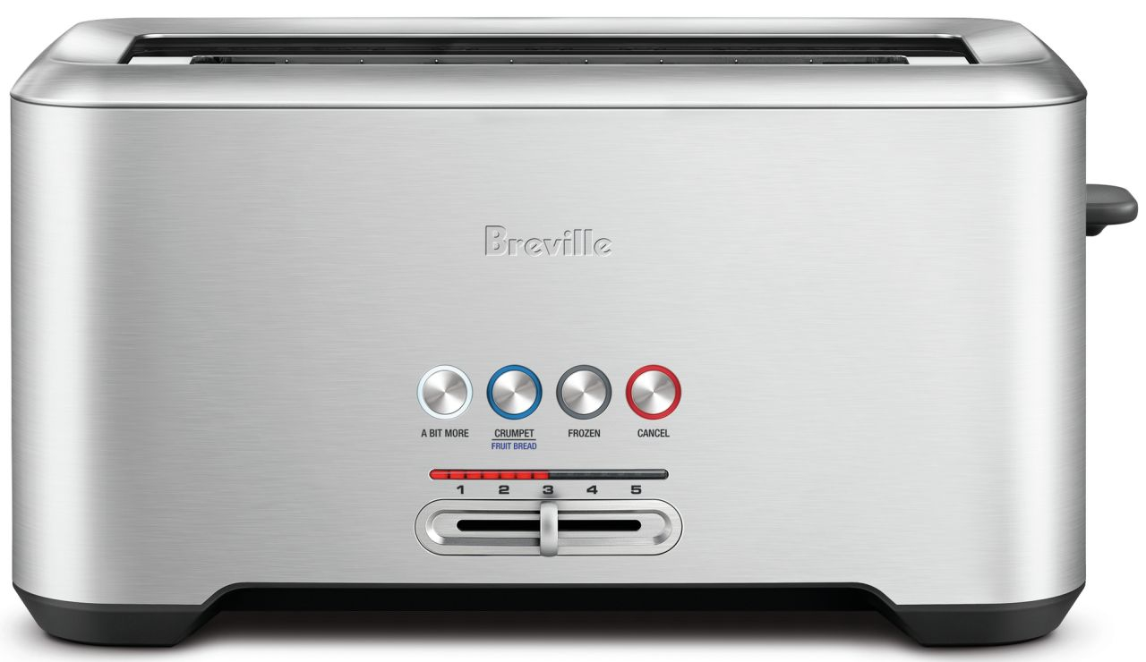Breville - Lift & Look Pro 4 Slice Toaster - Stainless Steel