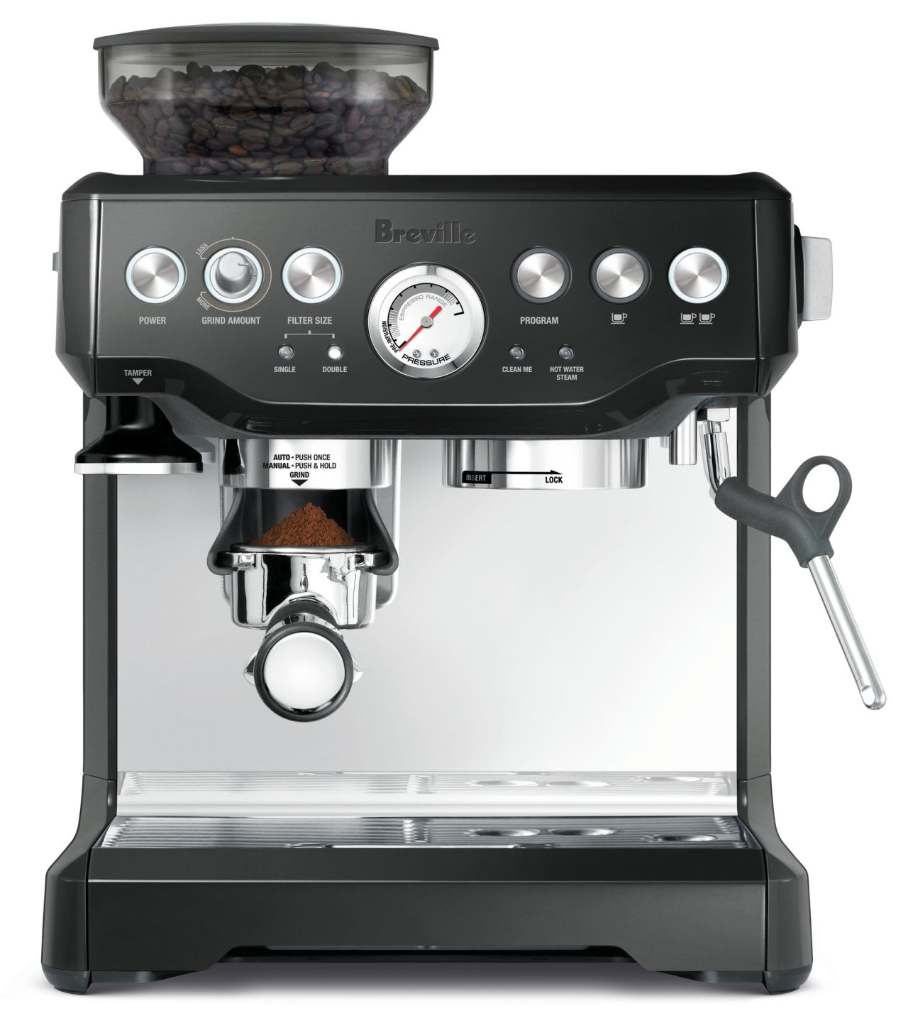 Breville - The Barista Express Coffee Machine - Black Sesame