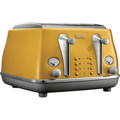 Delonghi - Icona Capitals 4 Slice Toaster - Yellow