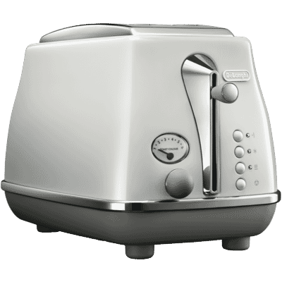 Delonghi - Icona Capitals 2 Slice Toaster - White