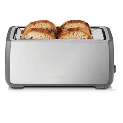 Sunbeam - Long Slot 4 Slice Toaster - Stainless Steel